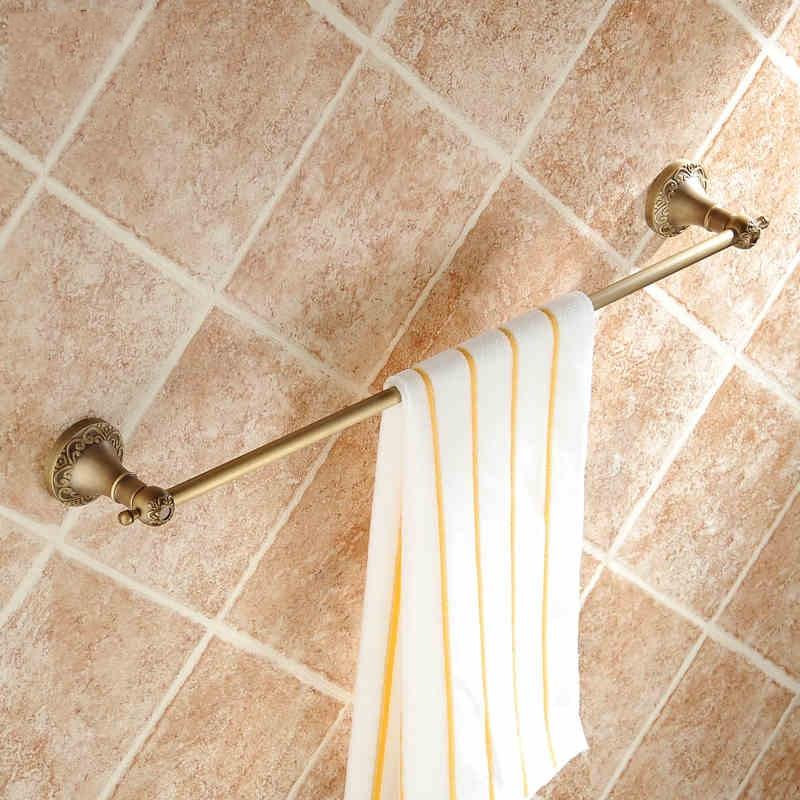 ANTIQUE Bronze Single Towel Bar Wall Mounted Bath Towel Rack water bathroom faucet<br><br>Aliexpress
