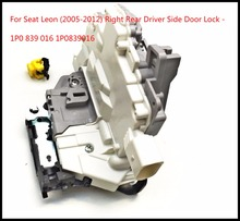 only For Seat Leon (2005-2012) Right Rear Driver Side Door Lock with Central Locking Catch Mechanism - 1P0 839 016 1P0839016(China)