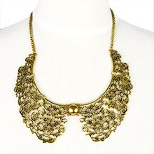Vintage jewelry Fake Collar Necklace for women antique gold and Silver color choker pendant necklace collier femme NL-1807(China)