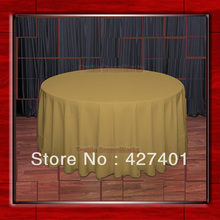 "Hot Sale 120""Round Copper 210GSM Polyester plain Table Cloth For Wedding Events & Party Decoration(Supplier)(China)"