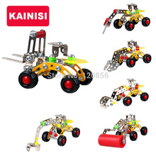 JIAJIALE Vehicle Metal Model Building Kits Puzzle Vehicle Cars Enlighten Education Assemblage DIY Toys 3d metal model kits(China)