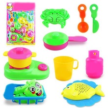 cool16 Pcs Colorful Plastic Baby Children Puzzle Kitchen Utensils Cooking Toys for Kids Pretend Play Preschool Tools Funny Games(China)