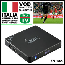 R68 Android TV Box 2GB 16GB with one year Super IPTV 1500+Europe Channels HotClub XXX Italy German Spain Belgium France Romania(China)