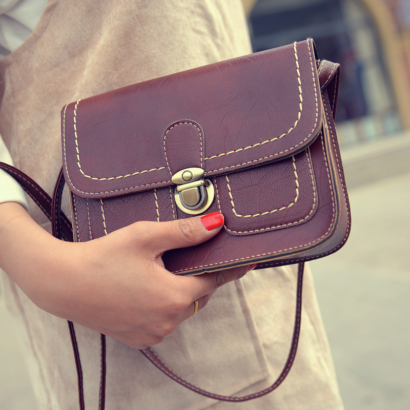 Fashion Vintage Womens Flap Handbags PU Leather Ladies Messenger bags Shoulder bags Crossbody bags<br><br>Aliexpress