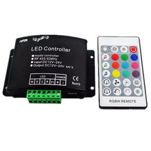 RGBW Music Controller with 24key RF Remote LED Music RGBW Controller DC12-24V for RGBW Led Strip Lights(China)
