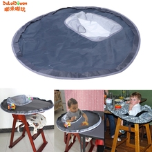 Prevent Baby Throw Things Waterproof Cloth Material To Eat Chair Cushion Booster Seats Eating Table Mat Folding Pad(China)