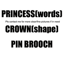 New style gift rhinestone princess crown letters pin brooch fashion decorative ornament jewelry accessories 300pcsx free shippin(China)