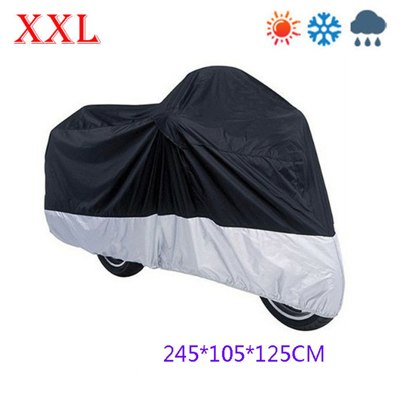 Size 245*105*125 cm Motorcycle Covering Waterproof Scooter Cover UV resistant Heavy Racing Bike Cover free shipping(China (Mainland))