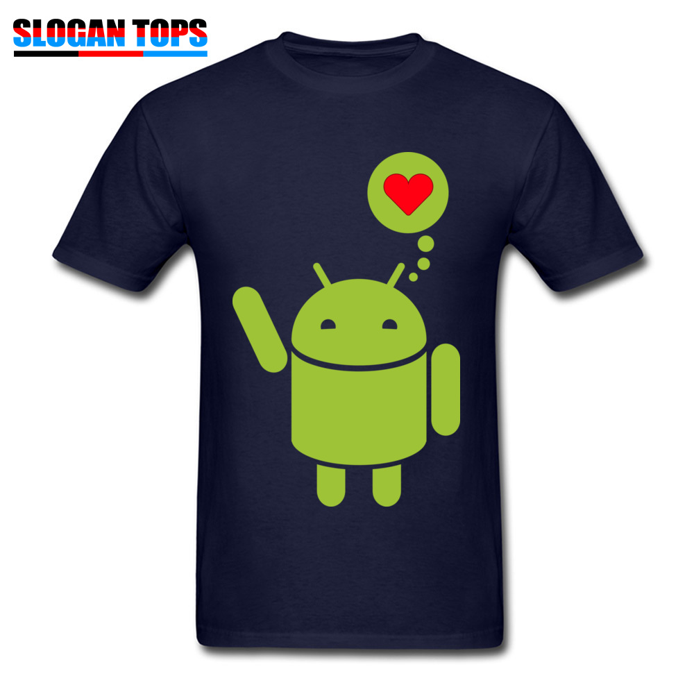 Droid in Love Thanksgiving Day 100% Cotton Round Neck Tops & Tees Short Sleeve Casual T-Shirt Coupons Custom Tshirts Droid in Love navy