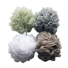 4 pcs/set Large Size Solid Bath Balls Rich bubbles Body Flower Bath Sponge Shower Brush Body Wash Scrubber Mesh Soft Puff