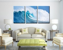 3 Panels Painted Ocean Waves Oil Painting On Canvas Mural Modern Wall Painting Wall Picture Seascape Home Decor