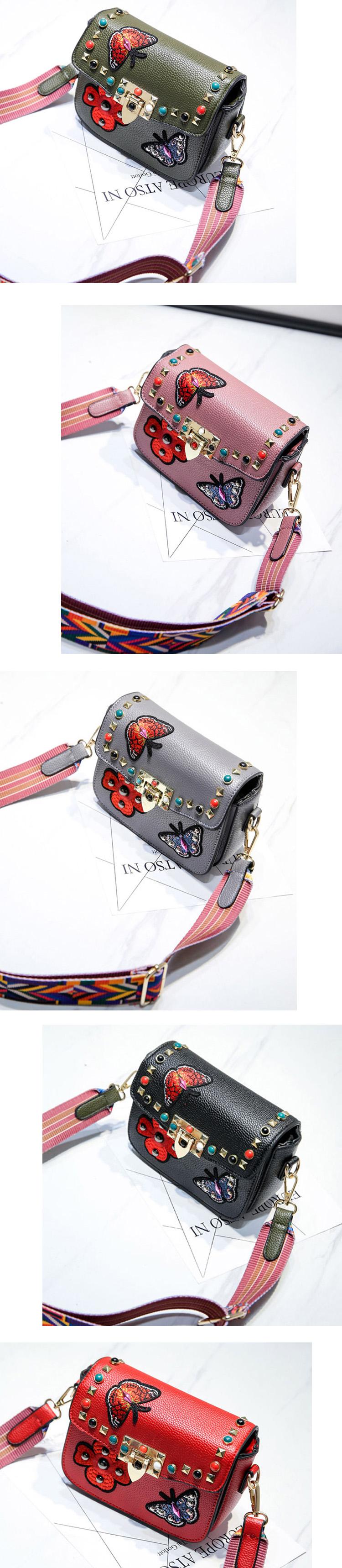 SAJOSE Women Small Hand Bag Flowers Designer Leather Shoulder Woman's Fashion Messenger Lady Crossbody Luxury Handbag Women Bags 3