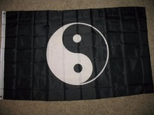 Ying Yang College Nylon Indoor Outdoor Flag 3' x 5' Custom Flag(China)