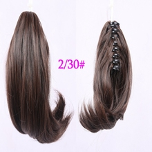 Women 10 inch Ponytails Hair Ponytails With Clip, Synthetic Hair Ponytail,Short Ponytail Hair Pieces 1pcs Free shipping