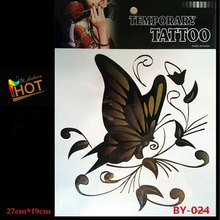 2017 New Product Sell Well Arm Tattoo Stickers Body Art Waterproof Large Temporary Tattoos Black Butterfly Design Free Delivery(China)