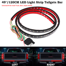 "Waterproof 49"" Flexible LED Light Strip Brake Tail Turn Signal Light Bar 5-Function Red White DRL For Ford GMC Truck SUV Pickup"