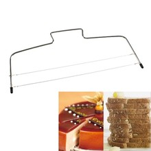 Stainless Steel Adjustable Wire Cake Slicer Leveler Slices Cake Cutter Tool Free Shipping