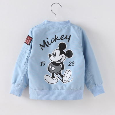 19 Mickey Denim Jacket For Boys Fashion Coats Children Clothing Autumn Baby Girls Clothes Outerwear Cartoon Jean Jackets Coat 23