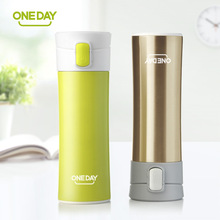 2017 New fashion Brand ONEDAY creative design thermal mug heat water cup themos super insulated vacuum flasks suit for tea milk