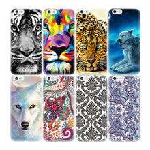 Cute Animals Tiger Flower Pattern Case Cover For iPhone 5S 6 7 6S Plus 4S 4 5 SE 5C Transparent Soft TPU Silicone Cover Shell