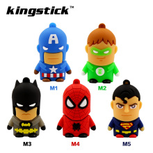 Kingstick super heros model USB Flash Drive 8GB 16GB 32GB 64GB 4GB USB 2.0 Pen Drive Memory Flash Pendrive Stick