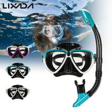 Scuba snorkeling mask Set Diving Mask Snorkel Glasses Set Silicone Swimming Pool Equipment mask underwater(China)
