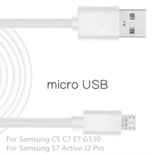 Micro USB2.0 Cable Mobile Phone For Samsung Galaxy C5 C7 E7 G530 1m USB Data Charger Cable Sync For Samsung S7 Active J2 Pro