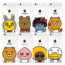 Cartoon Korea Hot Friends Funny TPU Pocket Silicone Phone Case for iphone 6 6Plus 6S plus for iPhone 5 7 Cover Cases Party Gift