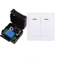 DC 12V 10A 1CH Wireless Remote Control Light   Switch Receiver 86 Wall Radio Wall Panel Transmitter Wireless Power Switch 315MHz