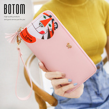 HOT Women Tiger Leopard Print Wallet PU Leather Purse Card Holder Handbag Clutch Bag Women Wallets(China)