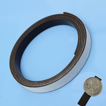 1M Self Adhesive Magnetic Stripe Rubber Flexible Magnet DIY Strip Tape Width10mm Thickness 1.5mm