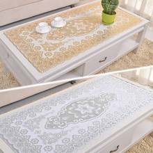 Western European Fashion Mat Table Mats PVC Insulation Mat Coasters Hollow Gilt Doily(China)