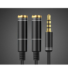 Hot-sale Earphone Adapter Accessory Headset Adapter 3.5mm 1 to 2 Dual Y Splitter Cable Adapter Earphone Headphone Jack Hot Gifts(China)