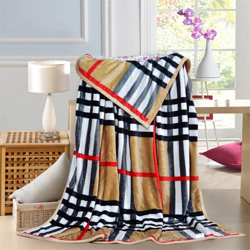 Thickening Plaid cartoon anime blanket Coral Fleece Blanket on Bed mantas Bath Plush Towel Air Condition Sleep Cover<br><br>Aliexpress