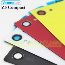 Vecmnoday For Sony Xperia Z5 Compact E5803 E5823 Back Glass Battery Door Housing Rear Back Cover Z5 Mini Replacement Spare Parts