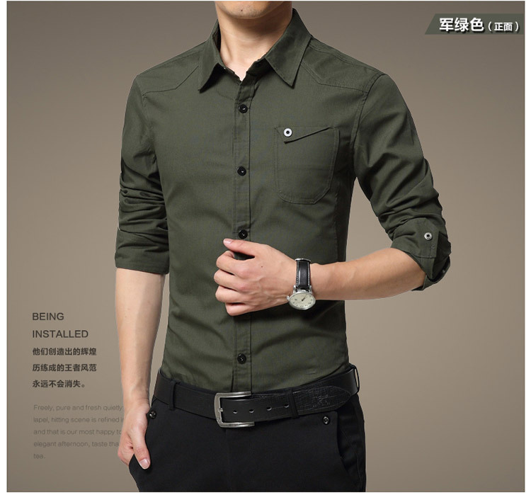 Famous Camisa Male Shirts Long Sleeve Men Shirt Fashion Casual Business Formal Shirt Chemise Homme Autumn Brand Clothing (9)