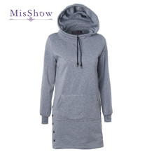 MisShow New Fashion Long Women Hoodies Sweatshirts Cotton Long Sleeve Ladies Christmas Jumper Outwear Overcoat Sudadera Mujer