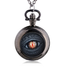 Antique Dragon Eye Song of Ice and Fire The Game of Thrones Design Quartz Pocket Watch Necklace Best Gift
