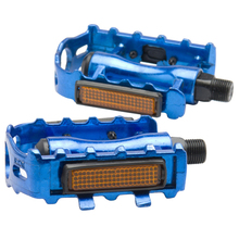 "Good deal 1 Pair MTB Aluminium Alloy Mountain Bike Bicycle Cycling 9/16"" Pedals Flat-blue"