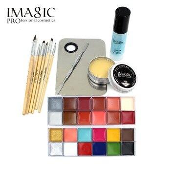 IMAGIC Professionnel Maquillage Cosmétiques 1X12 Couleurs Corps Peinture + Peau Cire + professionnel démaquillant Maquillage Set Outils