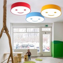 Fashion cartoon Ceiling Lights children's room lights smiling bedrooms LED circular nursery schools lamps creative LU729334