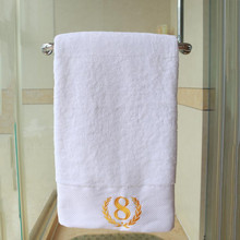 RUBIHOME 1 Piece White 100% Cotton Face Towel Luxury Brand For Bath Hotel Adult Women Facecloth Travel 40x80cm