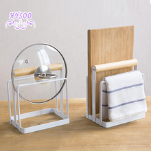 Iron chopping block cutting board rack kitchen shelving rack Drain rag towel rack storage rack