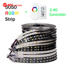 5M RGBW LED Strip 5050 DC12V SMD 60Leds/M Flexible Bar Light + 2.4G wireless Touch Screen RF Controller(China)