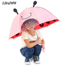 LDAJMW Cartoon Umbrella Children Lovely Ears Whistle Bumbershoot Suitable For 2-7 Years Old Young Kids 3D Stereo Animal Umbrella