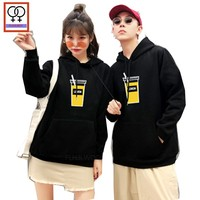 d889a24f9e Winter Hoodies Sweatshirts Lovers Couple Clothes Preppy Style Printed  Hooded Top Yellow Gray Red Black White
