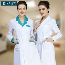 Winter White coat nurse clothing long-sleeve Hospital work wear lab coat doctor clothing Medical Design Breathable uniforms(China)