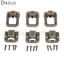 6pcs Antique Bronze Decorative Jewelry Gift Wine Box Wood Case Suitcase Hasp Latch Toggle Latch Drawers Buckle  Wholesales