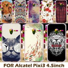 Phone Case For Alcatel OneTouch Pixi 3 Mobile Phone Covers 4.5 inch (only for 3G Version) 4027 4028 Hard Plastic Shell Coque