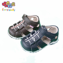 Enfant Shoes Summer Child's Sandals Little Boys Toddlers Baby Boy Sandal Cow Leather Upper+Pig Skin Linning Toe Cap Kids Sandals